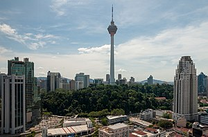 The Amazing Race Asia 1 - Teams finished the inaugural leg of The Amazing Race Asia in Bukit Nanas, at the top of Kuala Lumpur Tower.