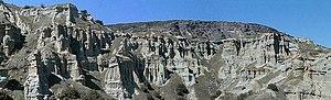 Kula, Manisa - Panorama of Kula Yanıkyöre rock formations