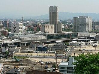 Kumamoto Station - Image: Kumamoto Station west gate