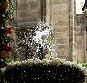 Dancing egg - The dancing egg at the cloister of the Barcelona Cathedral
