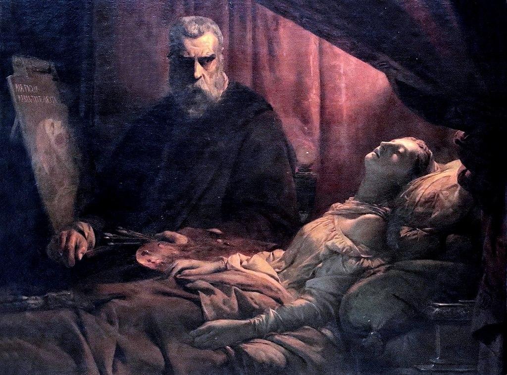 Ca s'est passé en août ! 1024px-L%C3%A9on_Cogniet_-Tintoretto_Painting_His_Dead_Daughter