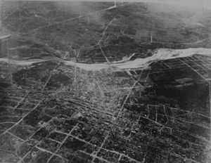 History of Los Angeles - An 1887 aerial photo of Los Angeles, taken from a balloon.