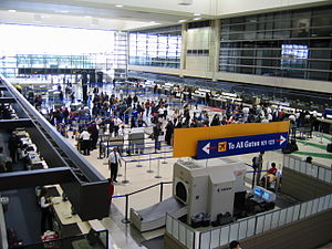 2002 Los Angeles International Airport shooting - Check-in counters at the Tom Bradley Terminal within LAX, where the incident happened