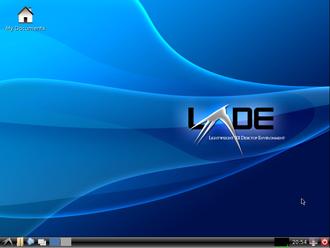 LXDE - Image: LXDE desktop full
