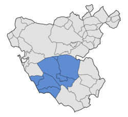 Location in the province of Cádiz.