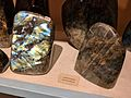 Labradorite in two samples showing labradorescence.jpg