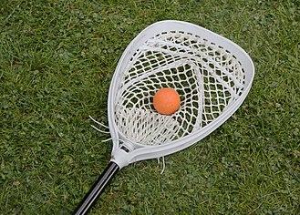 Lacrosse stick - Field goalie's stick.