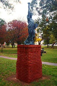 Lady Liberty in Woodland Veterans' Park.JPG