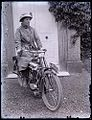 Lady on early Levis motorcycle, c. 1915 (4977547783).jpg