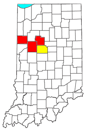 Lafayette metropolitan area, Indiana - Image: Lafayette Frankfort CSA