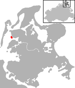 Location of the island of Öhe