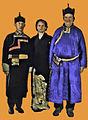 Lama robes and a garb of a Japanese businessman.jpg