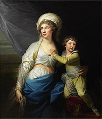 Portret Anny z Ossolińskich Potockiej z wnukiem Alfredem (1746-1810)