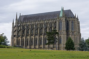 Lancing College - The chapel viewed from the south east