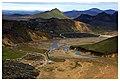 Landmannalaugar camp from Bláhnúkur (20681930771).jpg