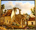 Landscape view near Senlis, Joseph Fischer, 1837, enamel on porcelain - Villa Vauban - Luxembourg City - DSC06512.JPG