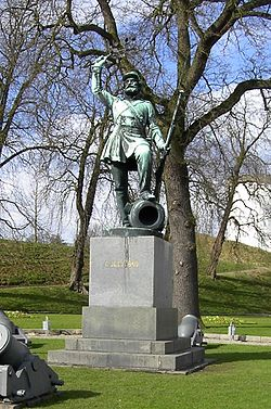 "The statue Landsoldaten (""The Foot Soldier"") in Fredericia, Denmark"