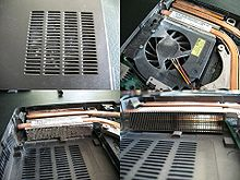 220px Laptop overheating due to dust clogged internal heatsinks in 2.5 year old laptop Laptop