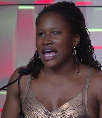 Lauryn Williams - Lauryn Williams speaking at the USATF National Meeting in 2014