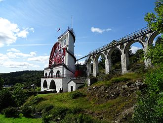 Laxey - Laxey Wheel, September 2015