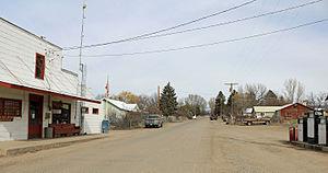 Lazear, Colorado - Looking north on 3100 Road in Lazear.
