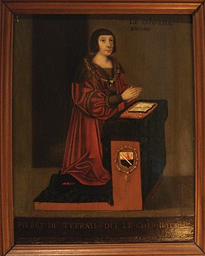 Pierre Terrail, seigneur de Bayard - Chevalier Bayard in a 16th-century French school painting.