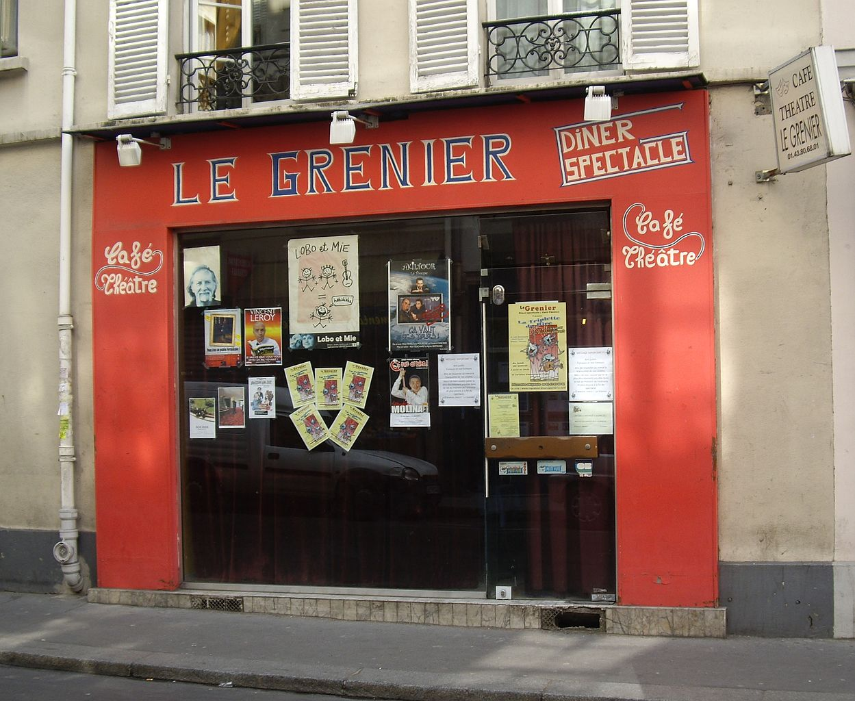 Cafe Theatre Paris Le Grenier