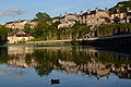 Le Miroir (the mirror) of Ornans with reflections of the houses in the Loue river - panoramio.jpg