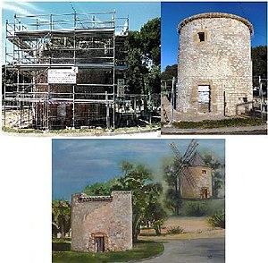 Lambesc - The Bertoire windmill (18thC) undergoing restoration