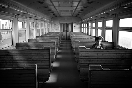 Leaving Yerevan in an empty train