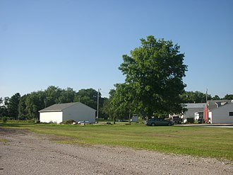 Leiters Ford, Indiana - The site of the former Erie Railroad depot site in Leiters Ford