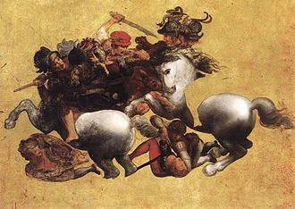 The Battle of Anghiari (painting) - A copy possibly made from the original incomplete work