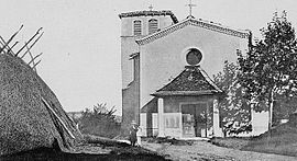 The church in Les Haies, at the beginning of the 20th century