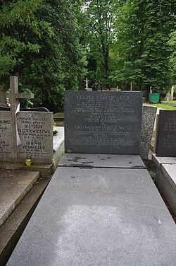 Leszek Lubicz-Nycz, Bronisław Lubicz-Nycz (grób).JPG
