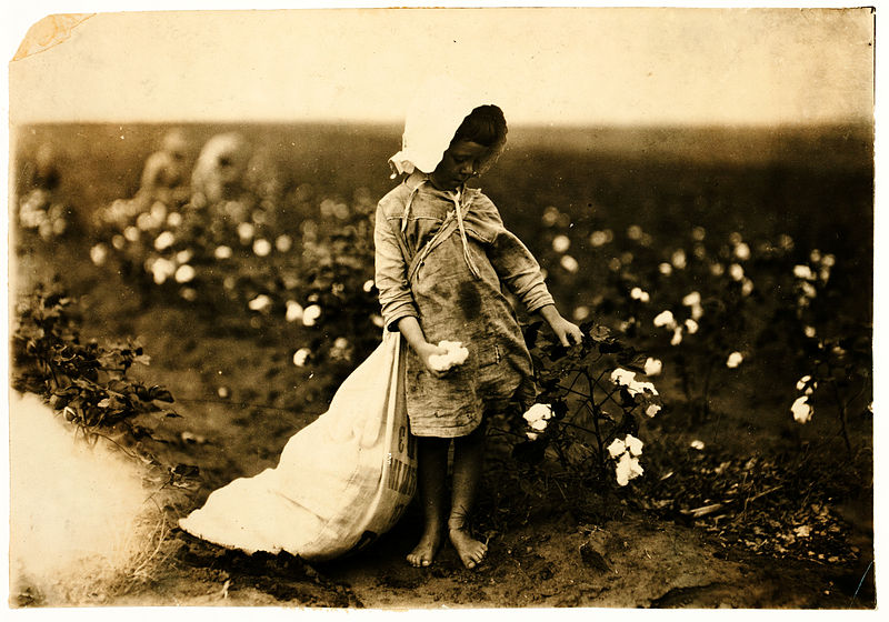 File:Lewis Hine, Vera Hill, 5 years old, cotton picker, Comanche County, Oklahoma, 1916.jpg