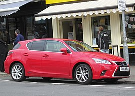 Lexus CT200 outside the bakery.JPG