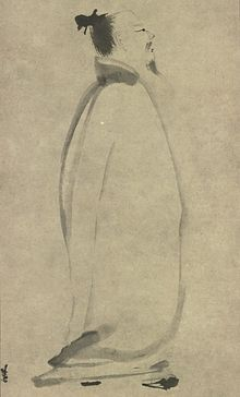 Li Bai Chanting a Poem, by Liang K'ai (1140 - 1210)