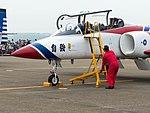 Li Jun-Ting, ROCAF Major, Pilot of Thundertigers AT-3 0842 Leaving Aircraft 20161126d.jpg