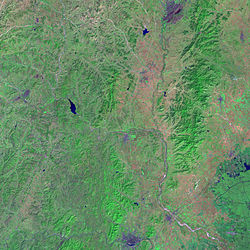 Imagen de Liaoning tomada por el Landsat 7