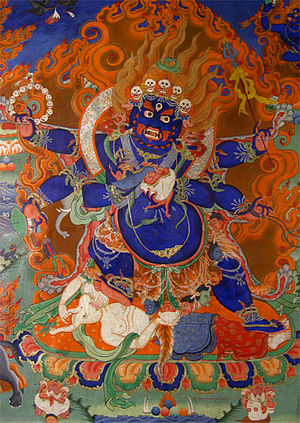 Likir Monastery - A Mahakala thangka in Likir