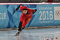 Lillehammer 2016 - Speed skating Ladies' 500m race 2 - Huawei Li.jpg