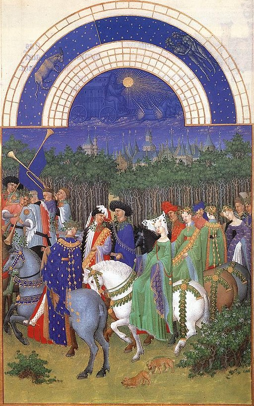 Limbourg brothers - Les très riches heures du Duc de Berry - Mai (May) - WGA13022