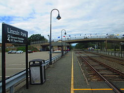 Lincoln Park station on the NJ Transit Montclair-Boonton Line