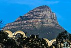 Lion's Head in morning light from Strand and Buitengracht streets, Cape Town.jpg