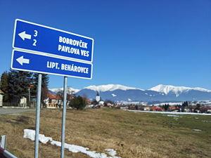 Liptovské Beharovce - On the way from Liptovsky Mikulas to Bobrovec, you will see the direction
