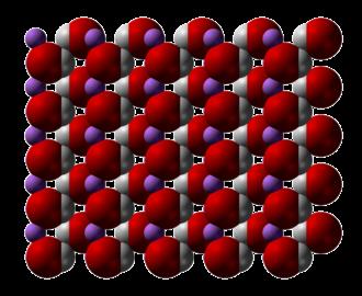 Lithium hydroxide - Image: Lithium hydroxide xtal 3D SF