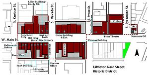 Littleton Main Street - Littleton Main Street Historic District, based on the map provided in the nomination forms.