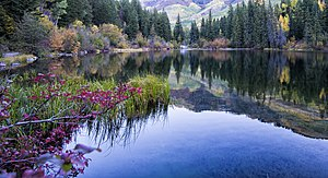 Gunnison County, Colorado - Lizard Lake, in the White River National Forest east of Marble, Colorado.