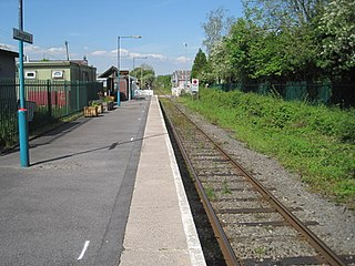 Llangadog railway station Railway station in Carmarthenshire, Wales