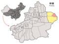 Location of Yiwu within Xinjiang (China).png